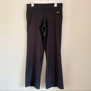 Nike Black Dri Fit Wide Leg Leggings Gym Exercise